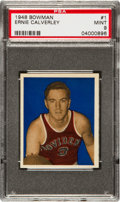 Basketball Cards:Singles (Pre-1970), 1948 Bowman Ernie Calverley #1 PSA Mint 9 - Pop Three, NoneHigher!...