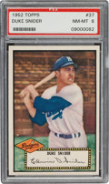 Baseball Cards:Singles (1950-1959), 1952 Topps Duke Snider, Black Back #37 PSA NM-MT 8....