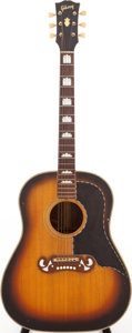 Musical Instruments:Acoustic Guitars, Early 1960s Gibson J-55 Custom Sunburst Acoustic Guitar....