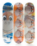 Post-War & Contemporary:Contemporary, JEFF KOONS (American, b. 1954). Three Skateboard Decks bySupreme (Monkey Train), 2006. Thermoformed and silkscreenedpl... (Total: 3 Items)