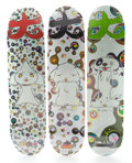 Post-War & Contemporary:Contemporary, TAKASHI MURAKAMI of Kaikai Kiki Co. (Japanese, b. 1962). ThreeSkateboard Decks by Supreme (BunBu-kun, Ponchi-kun, Shimon-...(Total: 3 Items)