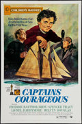 "Movie Posters:Adventure, Captains Courageous (MGM, R-1973). One Sheet (27"" X 41"").Adventure.. ..."