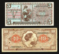 Military Payment Certificates:Series 641, Series 641 $10 and 661 $5. . ... (Total: 2 notes)