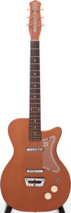 Musical Instruments:Electric Guitars, Circa 1960s Danelectro U-2 Copper Solid Body Electric Guitar,Serial # 2126....