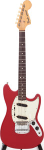 Musical Instruments:Electric Guitars, 1966 Fender Mustang Red Solid Body Electric Guitar, Serial #224967. ...