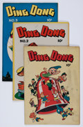 "Golden Age (1938-1955):Funny Animal, Ding Dong #1-5 Group - Davis Crippen (""D"" Copy) pedigree (Compix,1946-47).... (Total: 5 Comic Books)"