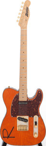 Musical Instruments:Electric Guitars, 1993 Rustler Model 4021 Orange Solid Body Electric Guitar, Serial # 0007. ...
