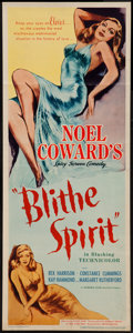 """Movie Posters:Comedy, Blithe Spirit (United Artists, 1945). Insert (14"""" X 36""""). Comedy....."""