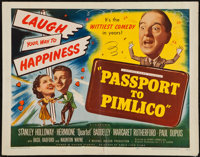 "Passport to Pimlico (Eagle Lion, 1949). Half Sheet (22"" X 28""). Comedy"