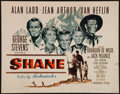 "Movie Posters:Western, Shane (Paramount, 1953). Half Sheet (22"" X 28"") Style B. Western....."