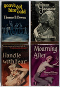 Books:Mystery & Detective Fiction, Thomas B. Dewey. Group of Four British or American First EditionBooks. Various, 1950-1960. Very good.... (Total: 4 Items)