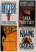 Books:Mystery & Detective Fiction, Sara Paretsky. Group of Four British or American First or First Collected Editions, One Inscribed. Various, 1985-1995. Win... (Total: 4 Items)