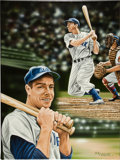 Baseball Collectibles:Others, 2012 Joe DiMaggio Original Artwork by Darryl Vlasak. ...