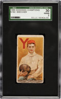 "Football Cards:Singles (Pre-1950), 1888 N162 Goodwin ""Champions"" Henry Beecher SGC 30 Good 2 - TheFirst Football Card...."