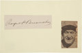 Autographs:Others, Circa 1920 Roger Bresnahan Signed Cut Signature....