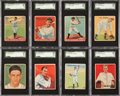 Baseball Cards:Sets, 1933-1934 Goudey and World Wide Gum Baseball Collection (83). ...