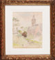 CAMILLE PISSARRO (French, 1831-1903) L'église de Knokke, 1894 Gouache and watercolor on paper 10-1/4 x 8-1/4 inch...