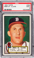 Baseball Cards:Singles (1950-1959), 1952 Topps Ebba St. Claire #393 PSA Mint 9 - Only One Higher!...