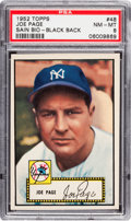 Baseball Cards:Singles (1950-1959), 1952 Topps Joe Page, Black Back Correct #48 PSA NM-MT 8 - None Higher!...