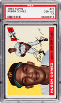 Baseball Cards:Singles (1950-1959), 1955 Topps Ruben Gomez #71 PSA Gem Mint 10 - One of Two! ...