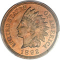 Proof Indian Cents, 1892 1C Indian Cent PR64 Red and Brown PCGS Secure. CAC....