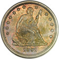 Seated Quarters, 1891 25C MS66 NGC. CAC....