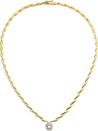 Diamond, Gold Necklace