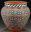 American Indian Art:Pottery, AN ACOMA POLYCHROME JAR. Edwin and Minerva Sarracino...