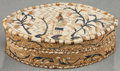 American Indian Art:Baskets, A HURON MOOSEHAIR EMBROIDERED BOX...