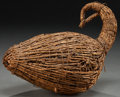 American Indian Art:Wood Sculpture, A CREE DUCK DECOY...