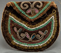 American Indian Art:Beadwork and Quillwork, A MICMAC/ MALISEET BEADED CLOTH POUCH...