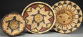 American Indian Art:Baskets, THREE HOPI POLYCHROME COILED PLAQUES... (Total: 3 Items)