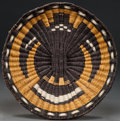 American Indian Art:Baskets, A HOPI PICTORIAL TWINED WICKER TRAY...