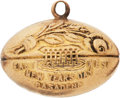 Football Collectibles:Others, 1931 Alabama Crimson Tide Gold Pendant Presented to Shorty Frey....