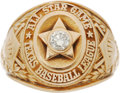 Baseball Collectibles:Others, Circa 1950's Texas League All Star Team Ring. ...