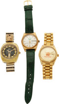 Football Collectibles:Others, 1975-81 College Football Bowl Game Presentation Watches Lot of 3....