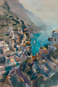 Works on Paper, REX BRANDT (American, 1914-2000). Positano, 1970. Watercolor on paper. 13-1/2 x 20 inches (34.3 x 50.8 cm). Titled, sign...