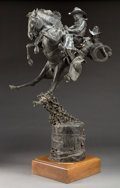 Sculpture, BARVO WALKER (American, 20th Century). Sho' He'll Ride Double. Bronze. 31 inches (78.7 cm). Titled and signed on base: S...