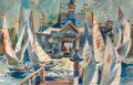Fine Art - Painting, American:Contemporary   (1950 to present)  , REX BRANDT (American, 1914-2000). Pavilion Afternoon, 1968.Watercolor on paper. 13-1/2 x 20-1/2 inches (34.3 x 52.1 cm)...