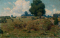 Paintings, WILLIAM ROBINSON LEIGH (American, 1866-1955). Hillside Landscape, 1903. Oil on canvas. 11-1/2 x 18-3/4 inches (29.2 x 47...