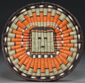 American Indian Art:Baskets, A HOPI PICTORIAL TWINED WICKER PLAQUE...