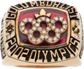Hockey Collectibles:Others, 2002 Stu Poirier Winter Olympics Canada National Hockey Team Gold Medalist Ring and Presentational Box. ...