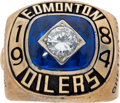 Hockey Collectibles:Others, 1984 Wayne Gretzky Edmonton Oilers Stanley Cup Replica Championship Ring....