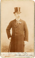 Boxing Collectibles:Memorabilia, 1890's Richard K. Foxx Signed Cabinet Photograph....