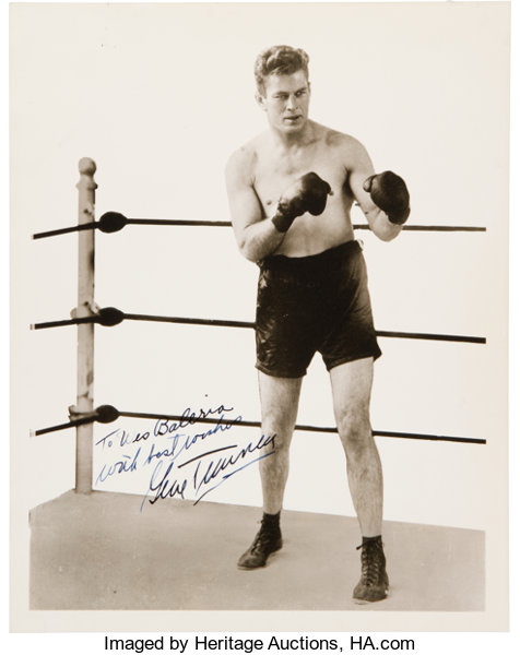 1920's Gene Tunney Signed Photograph     Boxing Collectibles | Lot