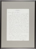 Autographs:Others, 1933 Lou Gehrig Handwritten Signed Letter....