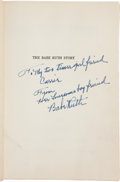 "Autographs:Others, 1948 Babe Ruth Signed ""The Babe Ruth Story"" Book--Wonderful Inscription!..."