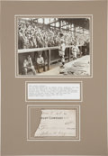 Autographs:Others, 1919 Honus Wagner Signed Check Fragment & Fiorello La Guardia Signed Letter, PSA/DNA Mint 9....