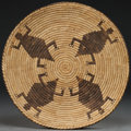 American Indian Art:Baskets, A PAPAGO PICTORIAL COILED PLAQUE ...