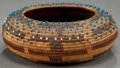 American Indian Art:Baskets, A POMO COILED BASKET . c. 1900...